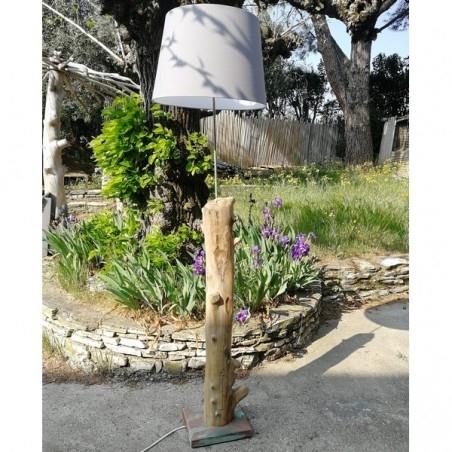 Lampe Tronc en Bois Flotté