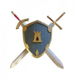 Bouclier et épées de Tristan