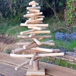 Teak Christmas tree 100 cm