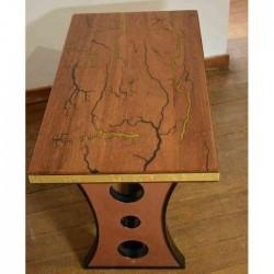 table basse bois lichtenberg résine
