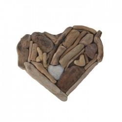 cœur bois flotté