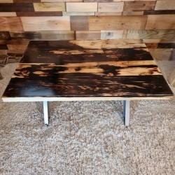 Table Basse epoxy Shou Sugi...