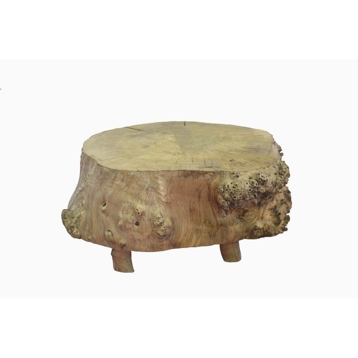 table basse tronc