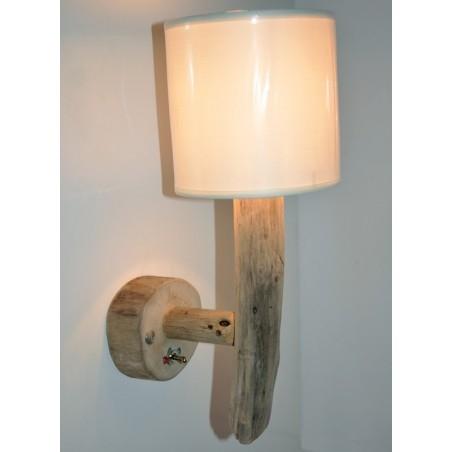 Applique Lampe de chevet en Bois Flotté