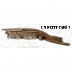 Porte tasse à café bois flotté