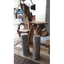 Trône en bois flotté