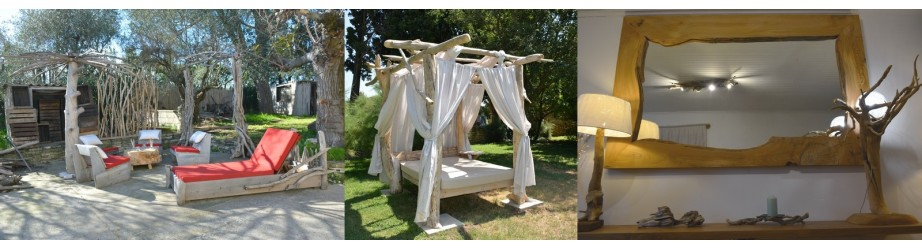 La décoration intérieure en bois flotté